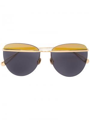 Солнцезащитные очки-авиаторы Sunday Somewhere. Цвет: металлический