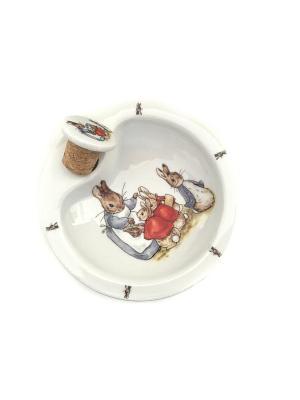 Тарелка детская с двойным дном Беатрис Поттер классический. Reutter Porzellan. Цвет: белый, голубой, красный
