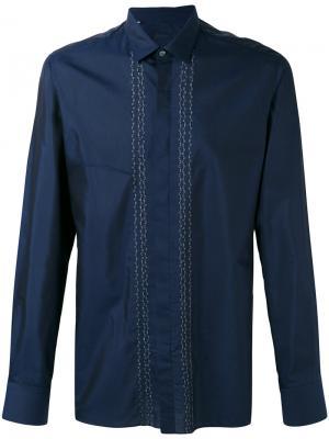 Рубашка с вышитыми полосами Lanvin. Цвет: синий
