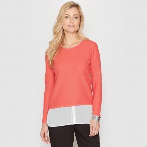 Пуловер-туника, эффект 2 в 1 ANNE WEYBURN. Цвет: экрю