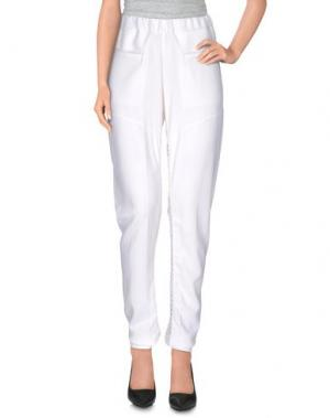 Повседневные брюки LUXURY FASHION. Цвет: белый
