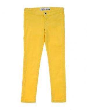 Джинсовые брюки TAKE-TWO TEEN. Цвет: желтый