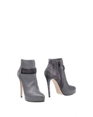 Полусапоги и высокие ботинки ENIO SILLA for LE. Цвет: свинцово-серый