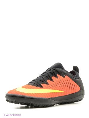 Шиповки MERCURIALX FINALE II TF Nike. Цвет: оранжевый, черный