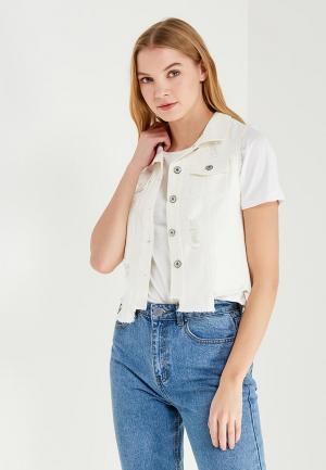 Жилет джинсовый Marissimo. Цвет: белый