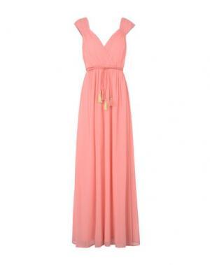 Длинное платье TRAFFIC PEOPLE. Цвет: лососево-розовый