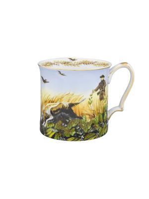 Кружка Утиная охота Elan Gallery. Цвет: зеленый, коричневый, голубой