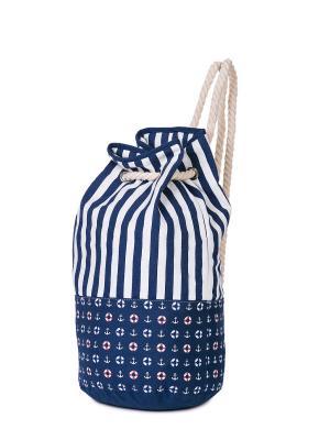 Сумка пляжная,рюкзак BAUDET. Цвет: синий