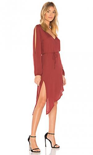Платье janelle YFB CLOTHING. Цвет: ржавый