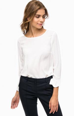 Белая блуза с длинными рукавами MORE &. Цвет: белый