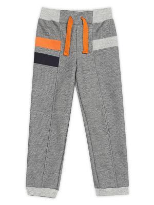 Брюки ЕМАЕ. Цвет: серый, оранжевый