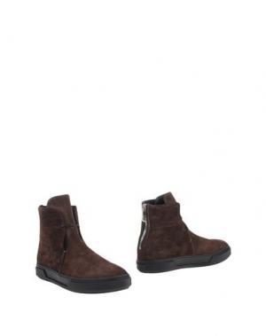 Полусапоги и высокие ботинки ALEJANDRO INGELMO. Цвет: темно-коричневый