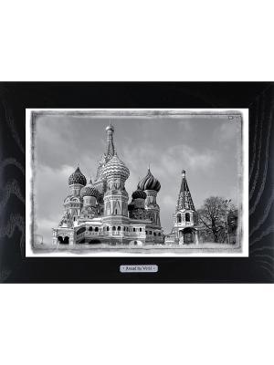 Картина-сувенир Собор Василия Блаженного Moscow Ceramic Picture. Цвет: бежевый