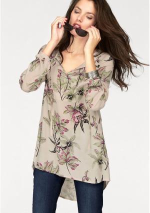 Блузка VIVANCE. Цвет: экрю с рисунком
