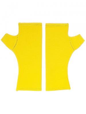 Митенки Лимонно-желтые из итальянского трикотажа плотного короткие SEANNA. Цвет: желтый