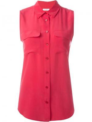 Рубашка без рукавов Equipment. Цвет: розовый и фиолетовый