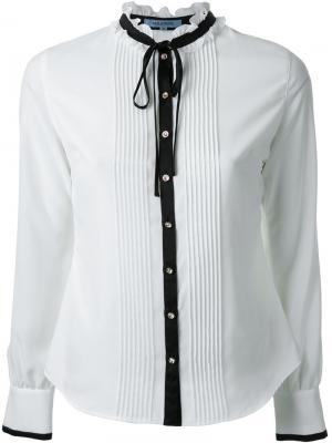 Рубашка с контрастной окантовкой Guild Prime. Цвет: белый
