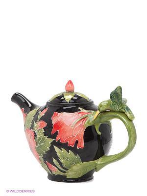 Заварочный чайник Гибискус Blue Sky. Цвет: черный, зеленый, коралловый