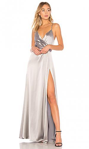 Вечернее платье metallic JILL STUART. Цвет: серый