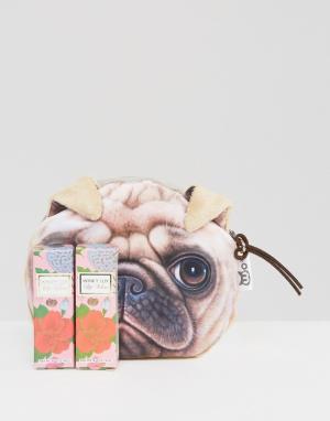 Winky Lux Набор из двух губных помад и косметичка с мопсом в подарок э. Цвет: мульти