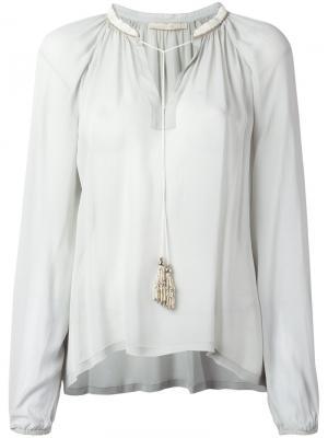 Расклешенная блузка Amen. Цвет: зелёный
