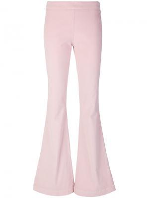Расклешенные брюки Giamba. Цвет: розовый и фиолетовый
