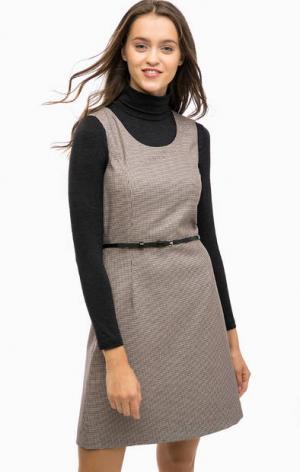 Платье без рукавов с расклешенной юбкой MORE &. Цвет: коричневый