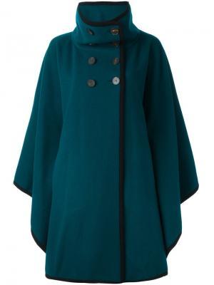 Пальто мешковатого кроя с воротником-стойкой Antonio Marras. Цвет: синий