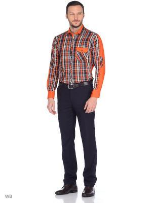 Мужская рубашка Louis Fabel. Цвет: оранжевый