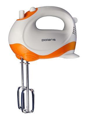 Миксер ручной PHM2010, 150Вт Polaris. Цвет: белый, оранжевый