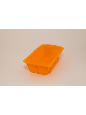 Форма силиконовая прямоугольная 22,5x12,5x6см. Vetta. Цвет: желтый