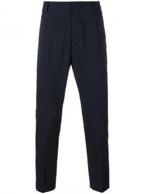 Зауженные брюки Paolo Pecora. Цвет: синий