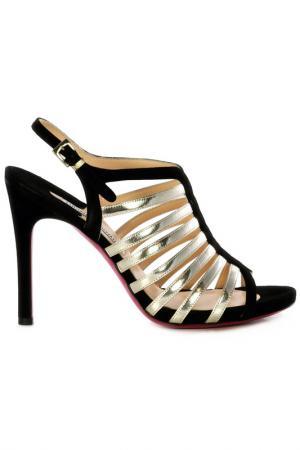 Босоножки на каблуках Luciano Padovan. Цвет: black and silver