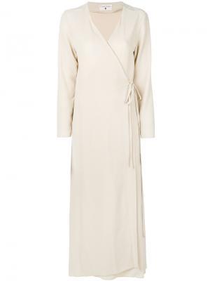 Платье с запахом Daniela Pancheri. Цвет: телесный