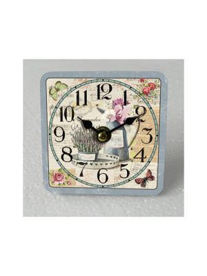 Часы настольные Лаванда и кувшин Magic Home. Цвет: белый