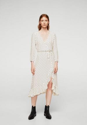 Платье Mango. Цвет: белый