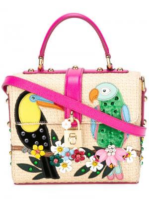 Декорированная сумка-тоут Dolce & Gabbana. Цвет: розовый и фиолетовый