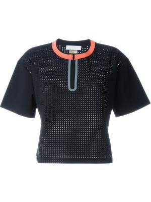 Перфорированная футболка мешковатого кроя Monreal London. Цвет: чёрный