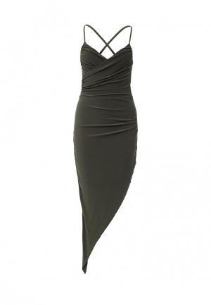 Платье Edge Clothing. Цвет: хаки