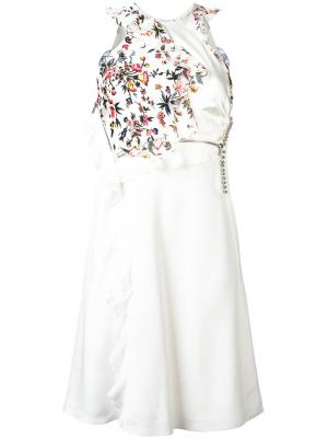 Деконструированное платье с цветочным рисунком 3.1 Phillip Lim. Цвет: белый
