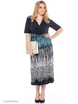 Платье SVESTA. Цвет: темно-синий, голубой, белый, черный