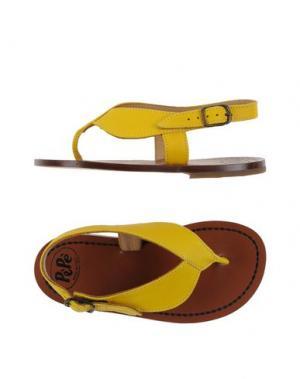 Вьетнамки PÈPÈ. Цвет: желтый