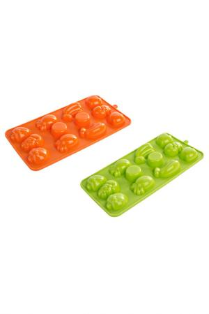Набор из 2 форм для льда Bizzotto. Цвет: оранжевый, зелёный