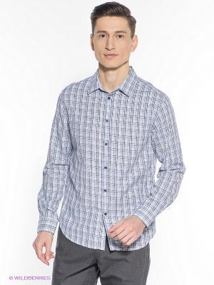 Рубашка INCITY. Цвет: светло-голубой, черный
