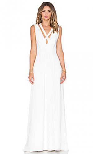 Вечернее платье с перекрестными шлейками спереди JILL STUART. Цвет: белый