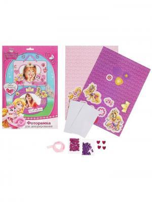 Фоторамка для декорирования Самая красивая Королевские питомцы, в наборе 2 шт + декор Disney. Цвет: фиолетовый,фуксия