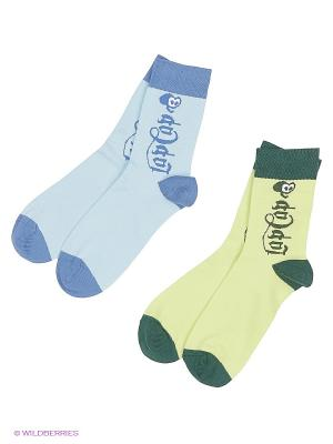Носки lap n cap. Цвет: салатовый, голубой