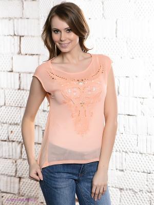 Блузка SELA. Цвет: персиковый