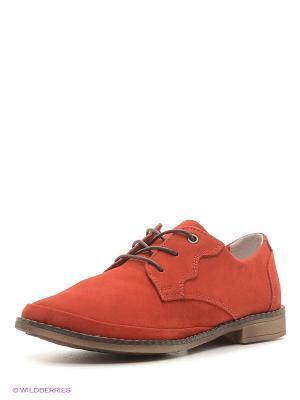 Туфли Walrus. Цвет: красный