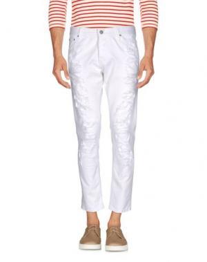 Джинсовые брюки TAKESHY KUROSAWA. Цвет: белый